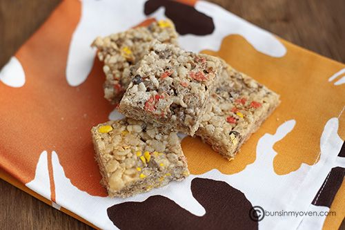 Reese's Pieces Peanut Butter Rice Krispies Treats