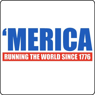 Funny July 4th Tee (Merica Running World Since 1776)