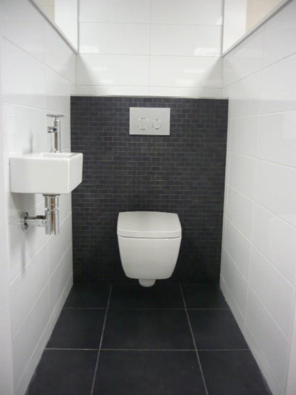 Tegels Badkamer Apeldoorn ~ Zwart wit toilet  verbouw inspiratie  Pinterest