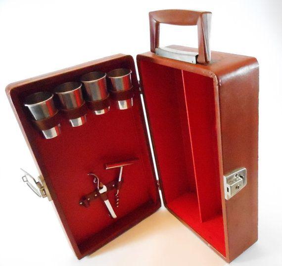 Vintage portable bar in case - Mobile bar vintage ...