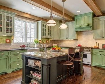by Clydene Spencer Forbush on Kitchens of the colorful kind | Pin