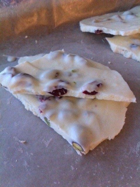 White Chocolate Pistachio Cranberry Bark | Recipes | Pinterest