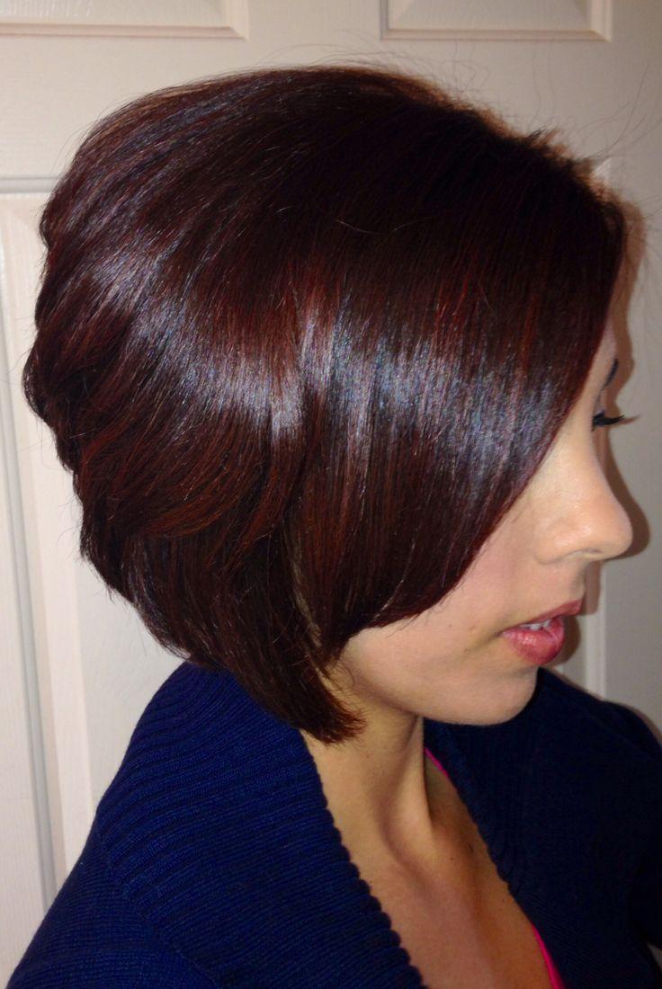 Hair Color By Feria Rich Mahogany Hair Pinterest