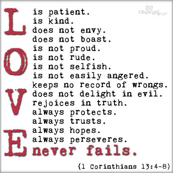Love Is Patient Love Is Kind Quote Glamorous Quotes About Love 1 Corinthians  Dobre For