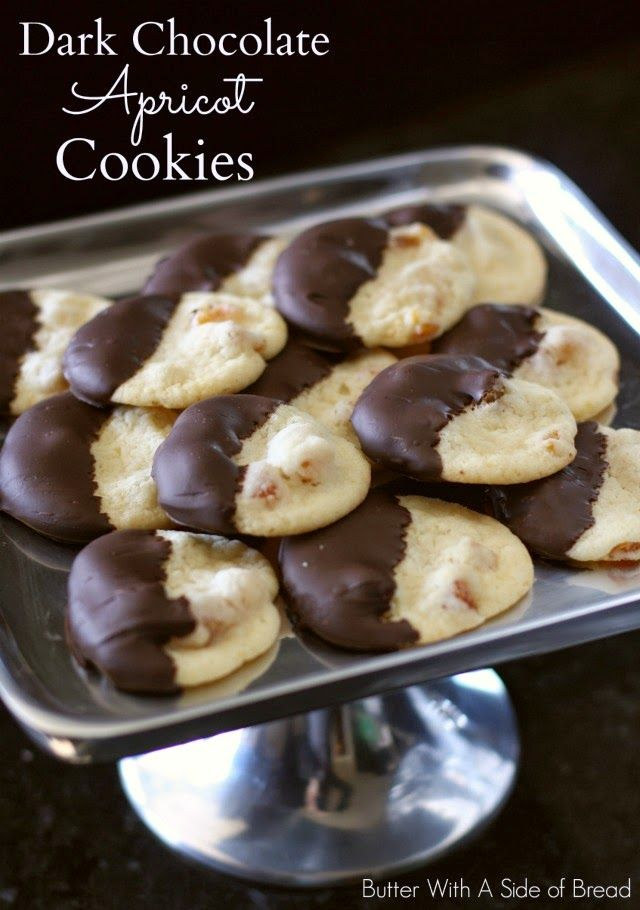 Chocolate-Dipped Chocolate-Apricot Sandwich Cookies Recipes ...