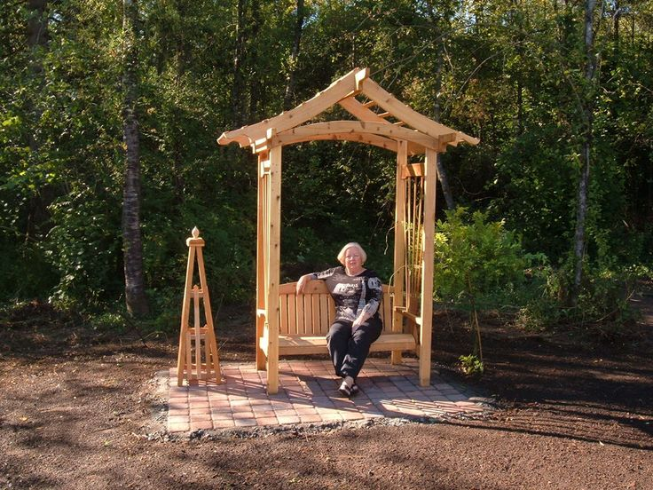 Bench With Built In Arbor Arbor Bench Bench And Arbor Pinterest