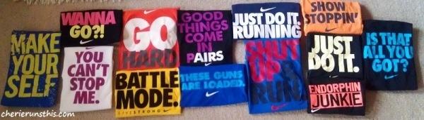 My Nike motivational t-shirts!