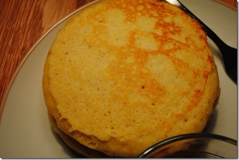 Buttermilk Cornbread Pancakes - tasty! Good with maple syrup or honey.