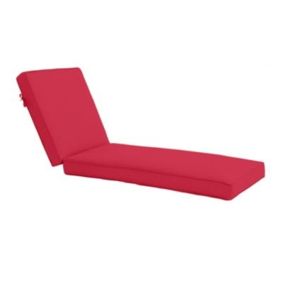 Outdoor chaise cushion with box edge welts p for Ballard designs chaise