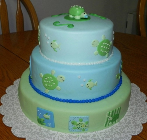 baby shower turtle cake ideas and designs