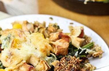 Crispy Rice and Turkey Casserole