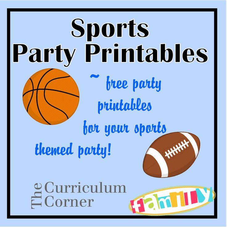 Free Sports Party Printables | Gav 2nd Birthday | Pinterest