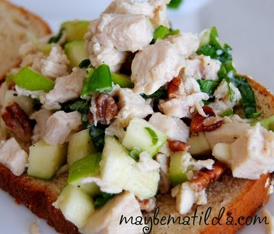 Made it: Chicken salad w/apple and basil. I would be perfectly happy ...