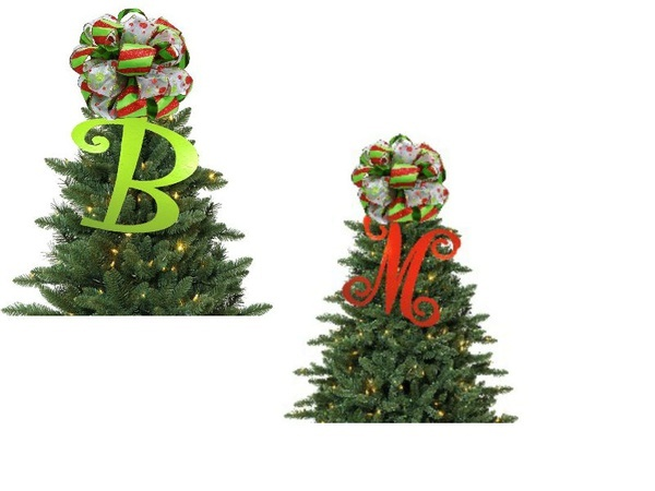 Wooden Initial Christmas Tree Topper | holiday decor...ideas | Pinter ...