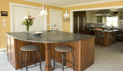 Pin by donna adams on crafty pinterest for Creative kitchen island designs