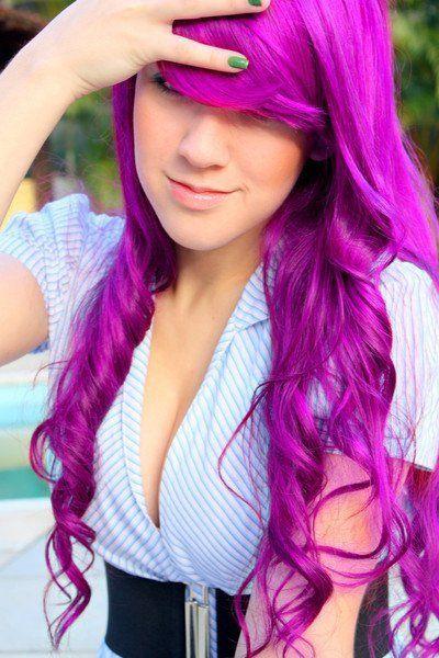 long bright purple