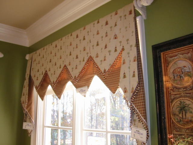 ... layer soft valance with jabots | Curtains - Window treatments
