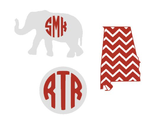 Roll tide alabama inspired monogram vinyl decal bundle for Alabama football mural