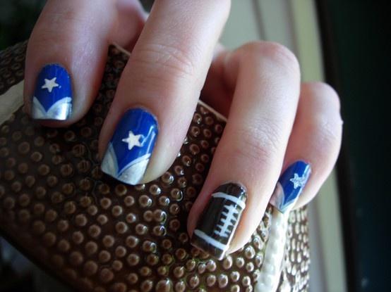 Dallas Cowboy nails | Football | Pinterest