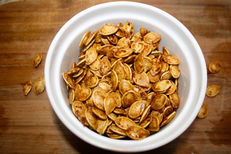Coconut Maple Roasted Pumpkin Seeds ~ Lauren Kelly Nutrition # ...
