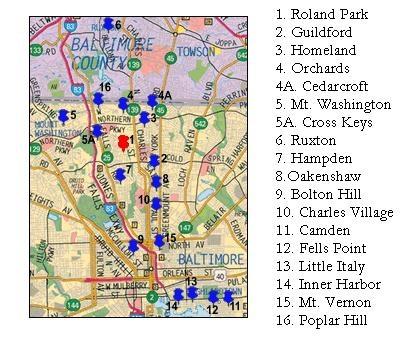 Baltimore Neighborhoods  Adventures In Baltimore QuotCharm