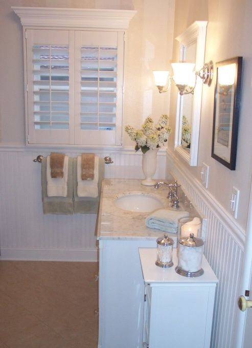 Guest bathroom for the home pinterest for 1940s window treatments