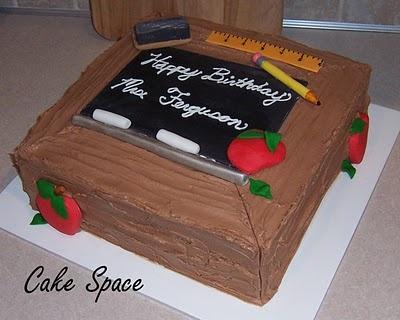 teacher birthday cake  Cake Decorating  Pinterest