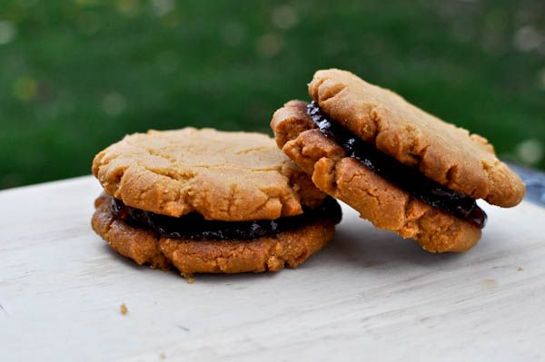 Peanut Butter & Jelly Cookies @Heather Rene LOL I keep seeing them now ...