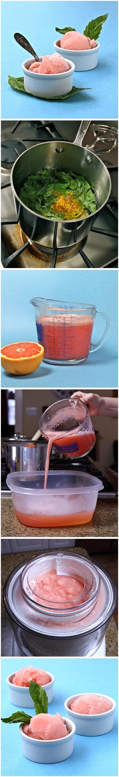 Grapefruit Basil Sorbet Recipe | Recipes! | Pinterest