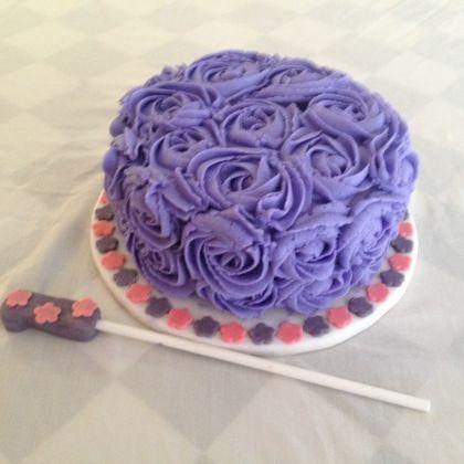 flower smash cake