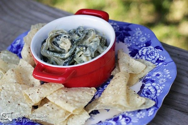 Cheesy roasted poblanos from Global Table Adventure (Mexico) | Party ...