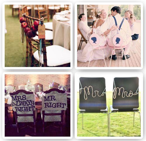 sillas decoradas para bodas