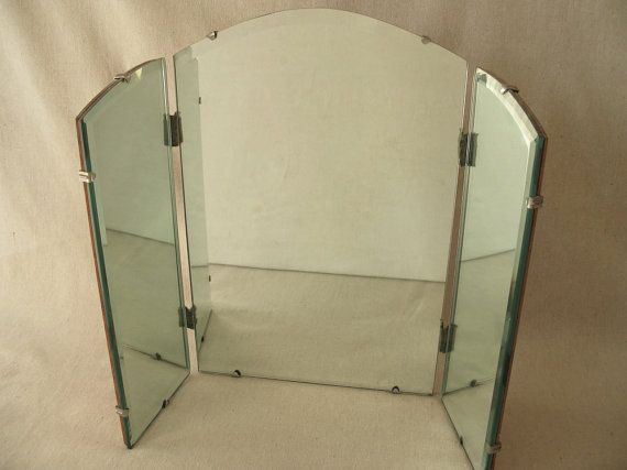 Tri fold vanity mirror dwell pinterest for Tri fold mirror