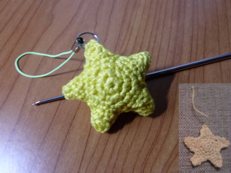 My amigurumi mini-star. You need to crochet two flat stars ...