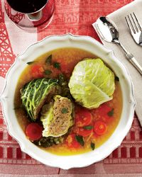 Meat-Stuffed Cabbage Cakes