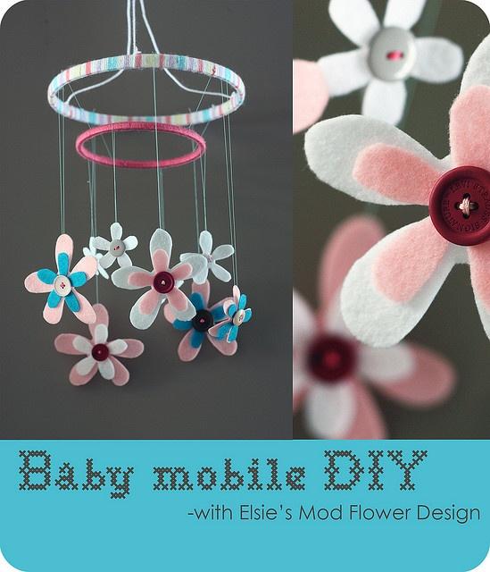 Baby mobile diy crafty pinterest for Diy baby mobile felt