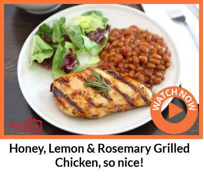 chicken with crispy potatoes honey lemon rosemary grilled chicken