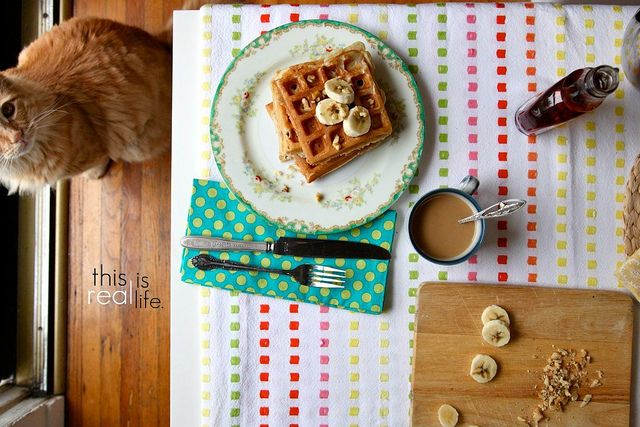Banana Walnut Waffles | Food | Pinterest
