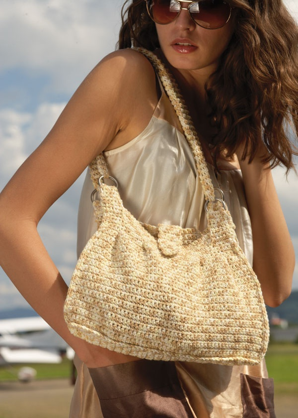 Crocheted Shoulder Bag - free pattern Crochet: Bags & Purses Pint ...
