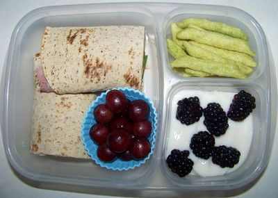 Ham, cheese & spinach wrap with grapes | Foodie Fondness- snacks and ...