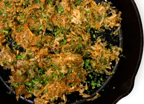 Chile-Cilantro Hash Browns - sounds like a perfect weekend bfast!