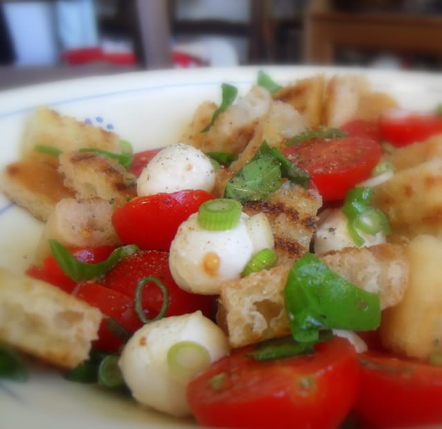 The English Kitchen: Grilled Bread Salad with Basil & Cherry Tomatoes