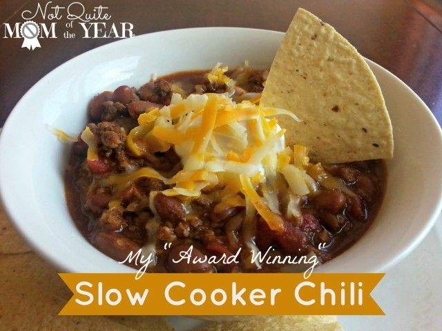 Slow Cooker Chili | Food | Pinterest