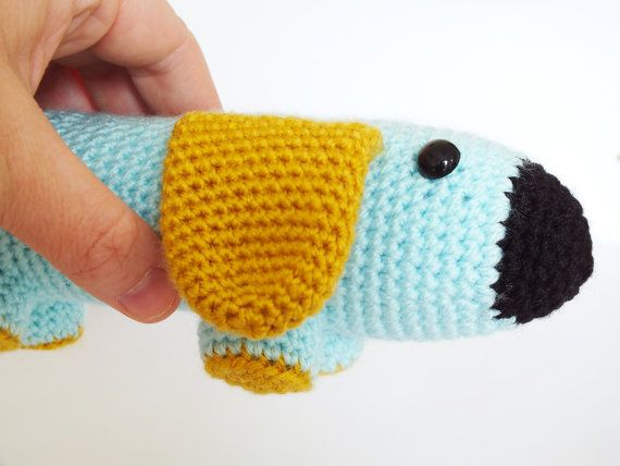 Amigurumi Crochet Sausage Dog PATTERN ONLY Puppy Dog Download Toy ...