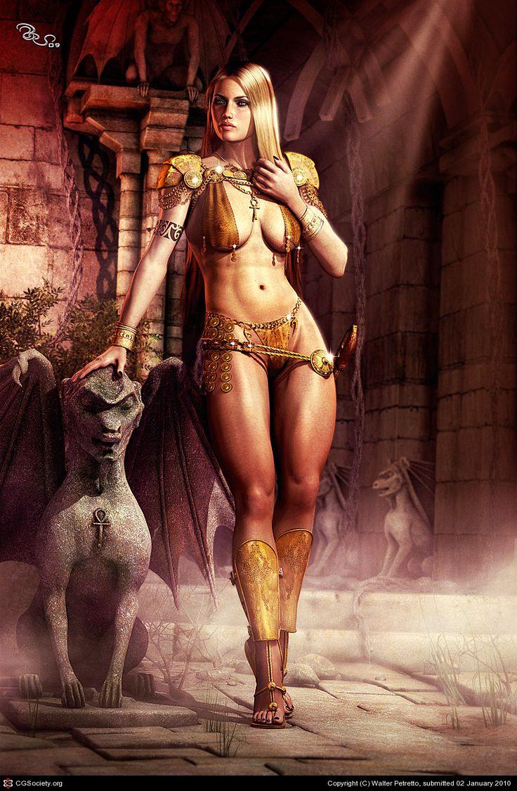 Hottest digital 3d warrior girls nude cartoon stupid actress