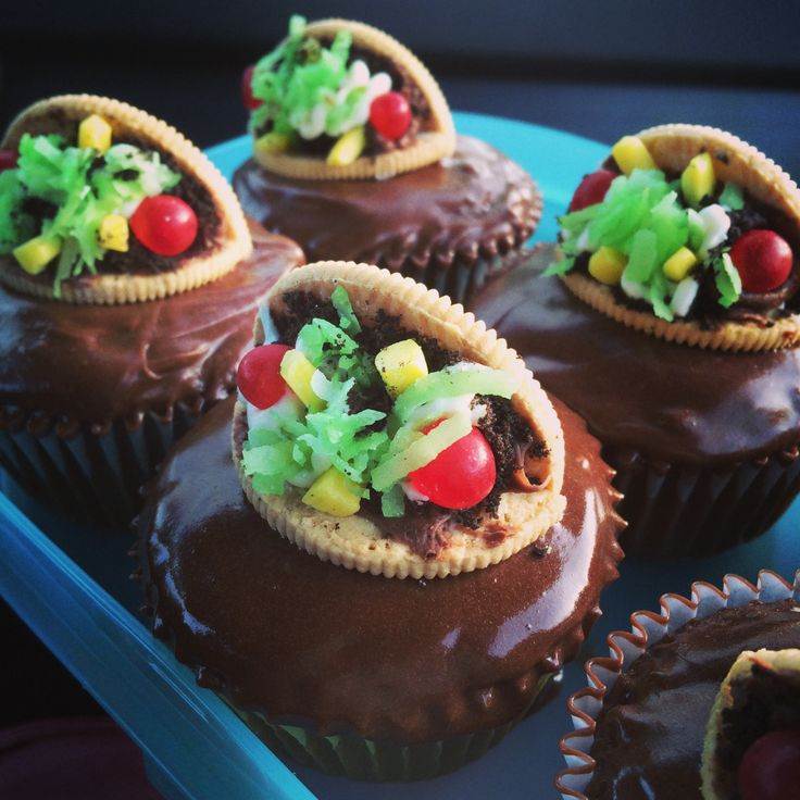 Taco cupcakes | My personal cupcake creations | Pinterest