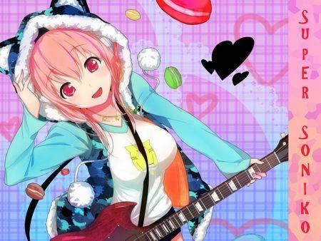 Pink Haired Anime Girl With Cat Hoodie   Girls Kawaii....(='.-=)   Pi