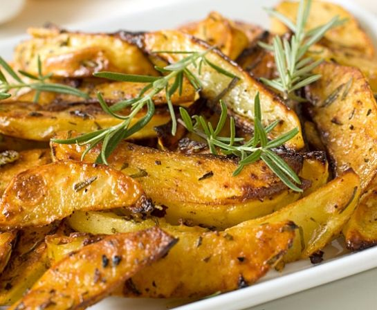 ... like this: garlic roasted potatoes , roasted potatoes and rosemary