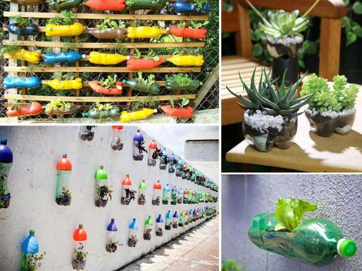 Plastic bottles garden pots bottle garden pinterest - Plastic bottles for gardening ...