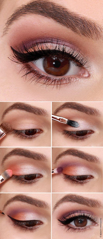 Схема в картинках нанесения макияжа глаз - giftforsexy.ru
